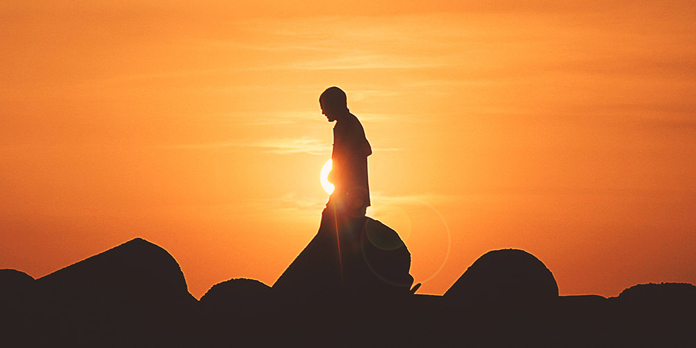Silhouette of Man in the Sun